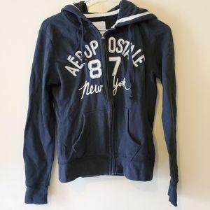 Aeropostale • XS black hooded zip-up
